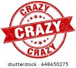 crazy round grunge ribbon stamp | Shutterstock .eps vector #648650275