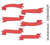 flat ribbons banners vector | Shutterstock .eps vector #648656029