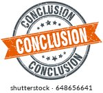 conclusion round grunge ribbon... | Shutterstock .eps vector #648656641