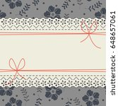 elegant lace frame with...   Shutterstock .eps vector #648657061