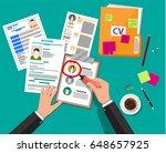 human resources management... | Shutterstock .eps vector #648657925