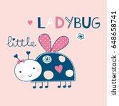 cute ladybug cartoon vector...   Shutterstock .eps vector #648658741