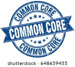 common core round grunge ribbon ... | Shutterstock .eps vector #648659455