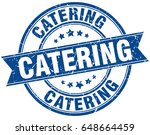 catering round grunge ribbon... | Shutterstock .eps vector #648664459