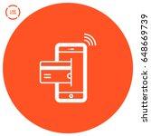 transfer nfc payment line... | Shutterstock .eps vector #648669739