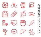 healthcare icons set. set of 16 ...   Shutterstock .eps vector #648673465