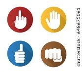 hand gestures flat design long... | Shutterstock .eps vector #648675061