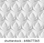 white seamless geometric... | Shutterstock . vector #648677365