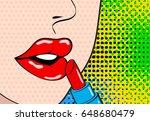 pop art makeup. closeup of sexy ...   Shutterstock .eps vector #648680479