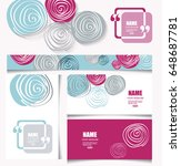 colorful  card set with flower...   Shutterstock .eps vector #648687781