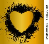 golden heart  vector object....   Shutterstock .eps vector #648692485