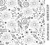 festive seamless pattern. hand...   Shutterstock .eps vector #648693109