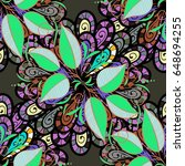 vector sketch of many abstract...   Shutterstock .eps vector #648694255