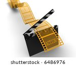 a conceptual strip of film with ... | Shutterstock . vector #6486976