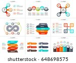 business data visualization.... | Shutterstock .eps vector #648698575