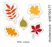 cartoon sticker with autumn... | Shutterstock .eps vector #648700177