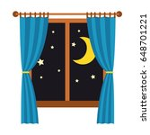 night out the window with blue... | Shutterstock .eps vector #648701221