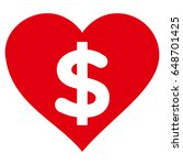 paid love flat icon. vector red ...   Shutterstock .eps vector #648701425