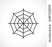 Spider Web Vector Pictogram