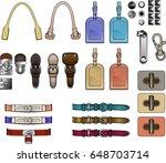 handbag design elements... | Shutterstock .eps vector #648703714
