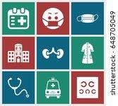 doctor icons set. set of 9...   Shutterstock .eps vector #648705049