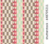 seamless pattern with hearts...   Shutterstock .eps vector #648705211