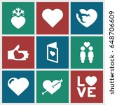 valentine icons set. set of 9...   Shutterstock .eps vector #648706609
