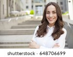 close up portrait of confident... | Shutterstock . vector #648706699