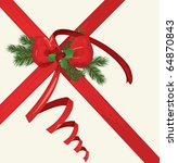 vector christmas card with a... | Shutterstock .eps vector #64870843