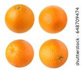 oranges isolated on white... | Shutterstock . vector #648709474