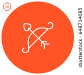 cupid's arrow line vector icon   Shutterstock .eps vector #648714085