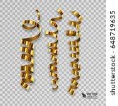 set of golden ribbons for your... | Shutterstock .eps vector #648719635