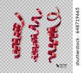 set of colorful ribbons for... | Shutterstock .eps vector #648719665