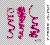 set of colorful ribbons for... | Shutterstock .eps vector #648719695