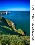 Small photo of Famous cliffs of Etretat at the Alabaster Coast, Normandy, France