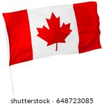 canadian flag isolated on white | Shutterstock . vector #648723085
