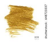 gold metallic brush stroke.... | Shutterstock .eps vector #648723337