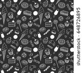 hand drawn chalk doodle set of... | Shutterstock .eps vector #648726895