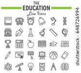 education line icon set  school ... | Shutterstock .eps vector #648726994