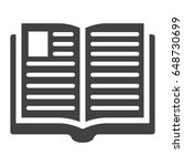 open book solid icon  education ...   Shutterstock .eps vector #648730699