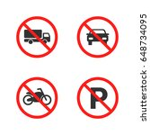 no parking sign. motorcycle ... | Shutterstock .eps vector #648734095