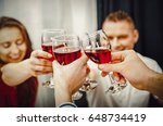 dinner with friends. | Shutterstock . vector #648734419