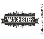 manchester skyline silhouette... | Shutterstock .eps vector #648734779