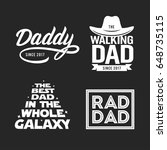 fathers day gift for dad t... | Shutterstock .eps vector #648735115