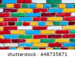 Colorful Brick Wall From Multi...