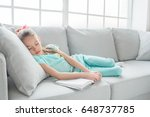 young teenager girl alone at... | Shutterstock . vector #648737785