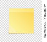 sticky note with shadow... | Shutterstock .eps vector #648738049