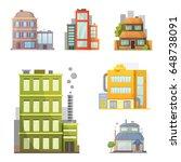 flat design of retro and modern ... | Shutterstock .eps vector #648738091