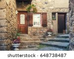 the entrance  of a house in a... | Shutterstock . vector #648738487