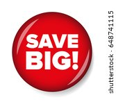 save big button red vector | Shutterstock .eps vector #648741115